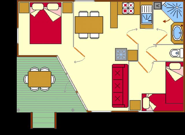 Plan du chalet Reve